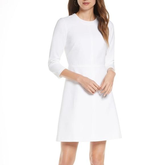 Eliza J Stretch A Line Dress White - 8